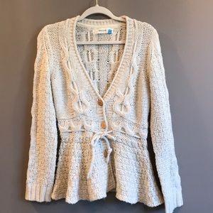 Anthropologie sparrow chunky cardigan sweater M